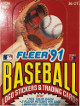 1991 Fleer Baseball Trading Card Wax Box (36 packs)