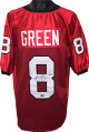 AJ (A.J.) signed Red Custom Stitched College Football Jersey #8 XL- PSA/JSA/BAS Guaranteed To Pass