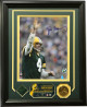Brett Favre signed Green Bay Packers 8x10 Photo w/ Highland Mint Coin/Jersey Custom Framed (last game at Lambeau)- Favre 4 Holo