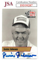 Junior Johnson signed NASCAR 1991 Pro Set Racing Trading Card #L17- JSA Hologram #DD39287