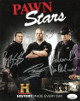 "Pawn Stars signed 4 Sig 8x10 Photo w/ Rick, Corey, Richard ""Old Man"" Harrison & Chumlee 4 sig To Angie's Mom- JSA Holo #DD39386"