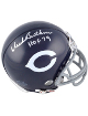 Dick Butkus signed Chicago Bears Replica Mini Helmet HOF 79- Mounted Hologram