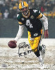 Brett Favre signed Green Bay Packers In The Snow 8x10 Photo #4 w/ '95, '96,'97 MVP – Favre 4 Hologram