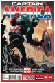 Captain America #1 (2013) Marvel Comic signed by Allen Bellman 2015- JSA Hologram #EE62963