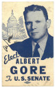 Al Gore signed 1985 Vintage 2.5x4 Elect for US Senate Card- JSA #AA38181