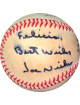 Joe Niekro signed ROAL Rawlings Official American League Baseball toned To Felicia Best Wishes- JSA #II11014