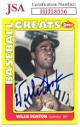 Willie Horton signed 1990 Swell Baseball Greats Card #41- JSA #HH18556 (Detroit Tigers)