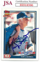 Tommy Lasorda signed 1991 Topps Baseball Card #789- JSA #HH18506 (Los Angeles Dodgers)