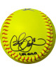 Cat Osterman signed 12 Inch Yellow Epic Sports Fastpitch Softball #8 USA GOLD- Radtke Holo (Olympics Team USA Gold Medal/6X AS)
