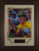 Lance Armstrong unsigned Engraved Signature Series 25X19 Leather Framed Tour de France