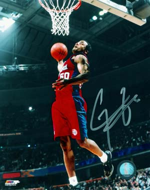 Corey Maggette signed LA Clippers 16x20 Photo minor ding
