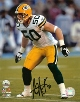AJ Hawk signed Green Bay Packers 16x20 Photo