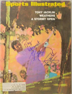 Tony Jacklin signed Sports Illustrated June 29, 1970