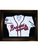 Baseball Jersey Deluxe Half Display Case Black