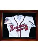 Baseball Jersey Deluxe Half Display Case Mahogany