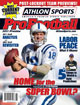 2011 Athlon Sports NFL Pro Football Magazine Preview- Indianapolis Colts Cover