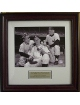 Yogi Berra unsigned New York Yankees 8x10 Photo Custom Framed w/Mantle & Ford