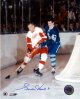 Gordie Howe signed Detroit Redwings 16x20 Photo vs Toronto
