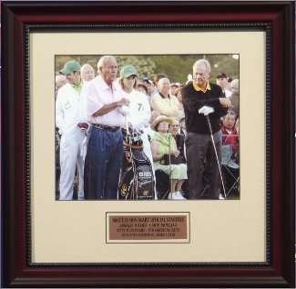 Arnold Palmer & Jack Nicklaus 16x20 Photo 2010 Masters Official Starters Custom Framing