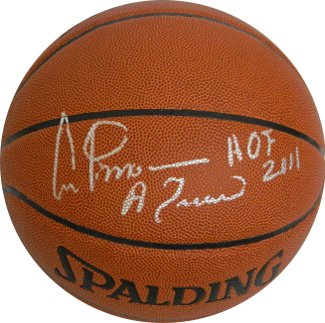 Artis Gilmore signed Indoor/Outdoor TB Basketball HOF 2011 & A Train (panel above Leaf)