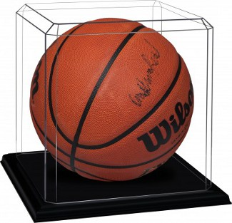 Basketball - Acrylic Deluxe Display Case with Black Base