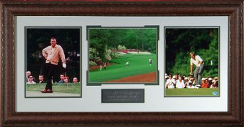 Arnold Palmer & Jack Nicklaus 38X21 - Premium Leather Framing w/3 8x10 Photos Augusta Masters #13