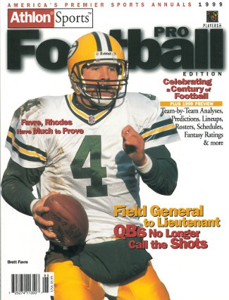Brett Favre unsigned Green Bay Packers Athlon Sports 1999 NFL Pro Football Preview Magazine