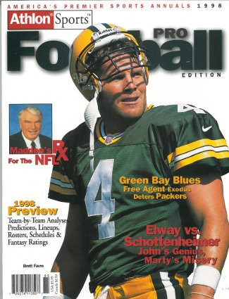 Brett Favre unsigned Green Bay Packers Athlon Sports 1998 NFL Pro Football Preview Magazine