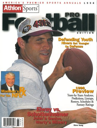 Steve Young unsigned San Francisco 49ers Athlon Sports 1998 NFL Pro Football Preview Magazine
