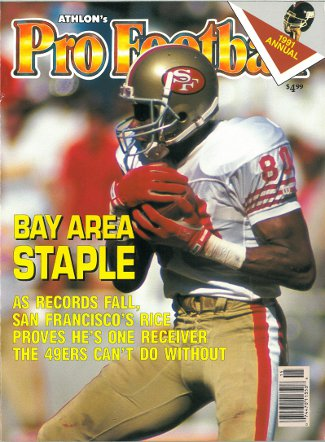 Jerry Rice unsigned San Francisco 49ers Athlon Sports 1991 NFL Pro Football Preview Magazine