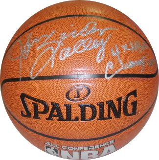 John Salley signed Indoor/Outdoor Basketball Spider & 4 X NBA Champion (Pistons/Bulls)