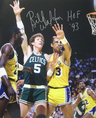 Bill Walton signed Boston Celtics 16x20 Photo HOF 93 (vs Kareem Abdul-Jabbar)