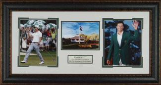 Adam Scott 2013 Masters Champion 3 Photo Premium Leather Framing