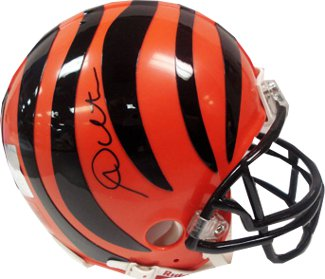 Andy Dalton signed Cincinnati Bengals Riddell Mini Helmet (black sig -center)- Dalton Hologram