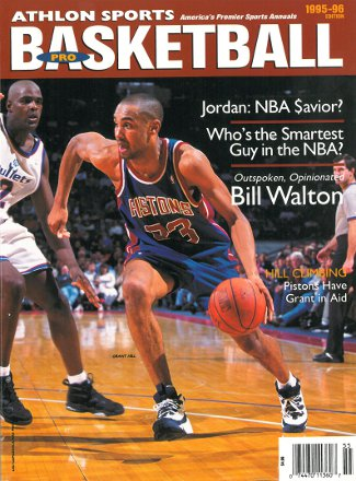 Grant Hill unsigned Detroit Pistons Athlon Sports 1995-96 NBA Basketball Preview Magazine