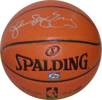 "Julius Erving signed Spalding NBA I/O Basketball w/ ""Dr. J"" - BAS- Beckett Hologram (Philadelphia 76ers)"