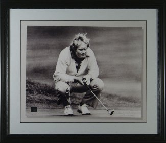Jack Nicklaus unsigned 1978 B&W British Open 8x10 Custom Framed
