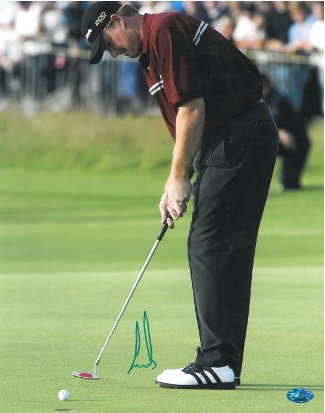 Ernie Els signed 11x14 Photo 2002 British Open putt- PSA Hologram