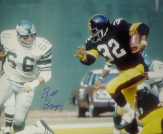Bill Bergey signed Philadelphia Eagles 16x20 Photo vs Franco Harris/Steelers