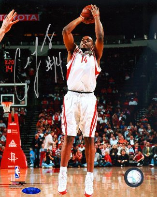 Carl Landry signed Houston Rockets 8x10 Photo- Tri-Star Hologram