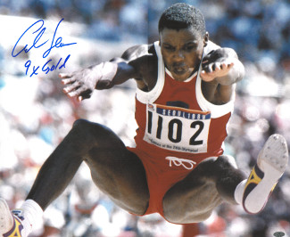 Carl Lewis signed Team USA 16x20 Photo 1988 Seoul Olympics 9 X Gold