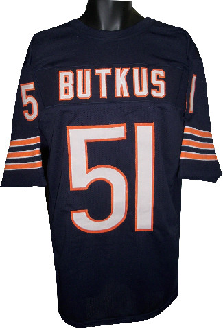 Dick Butkus unsigned Navy TB Custom Stitched Pro Style Football Jersey XL