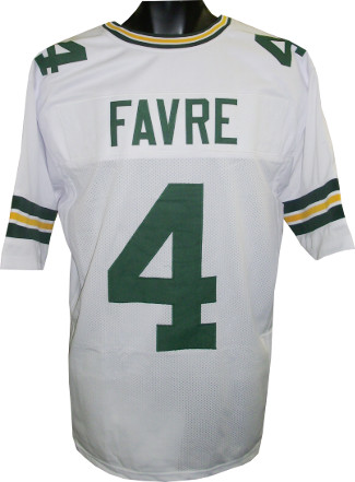 Brett Favre White Custom Stitched Pro Style Football Jersey XL