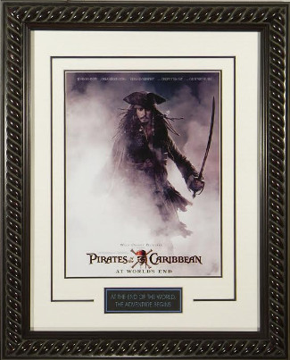 Pirates of the Caribbean: At World's End 20x28 Masterprint Movie Poster Custom Rope Framing Johnny Depp
