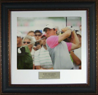 Rory McIlroy unsigned 2014 British Open 11X14 Photo Leather Framed