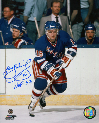 Marcel Dionne signed New York Rangers 8x10 Photo HOF 92