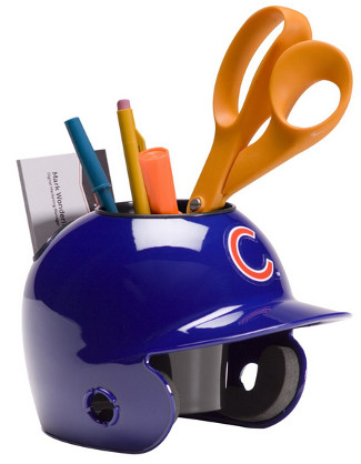 Chicago Cubs MLB Baseball Schutt Mini Batting Helmet Desk Caddy