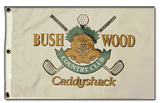 Caddyshack Bushwood Country Club Logo unsigned 12 x 21 Golf Pin Flag (Entertainment/Movie)