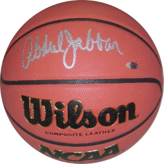 Kareem Abdul-Jabbar signed Wilson NCAA Indoor/Outdoor Replica Game Basketball (above) (UCLA Bruins)- Steiner Hologram