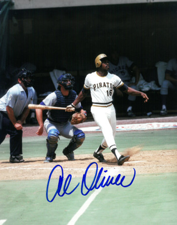 Al Oliver signed Pittsburgh Pirates 8x10 Photo (batting)